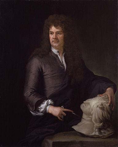 Portrait of Grinling Gibbons by Sir Godfrey Kneller