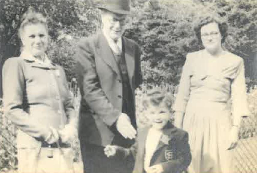 Patrick with his father in 1948