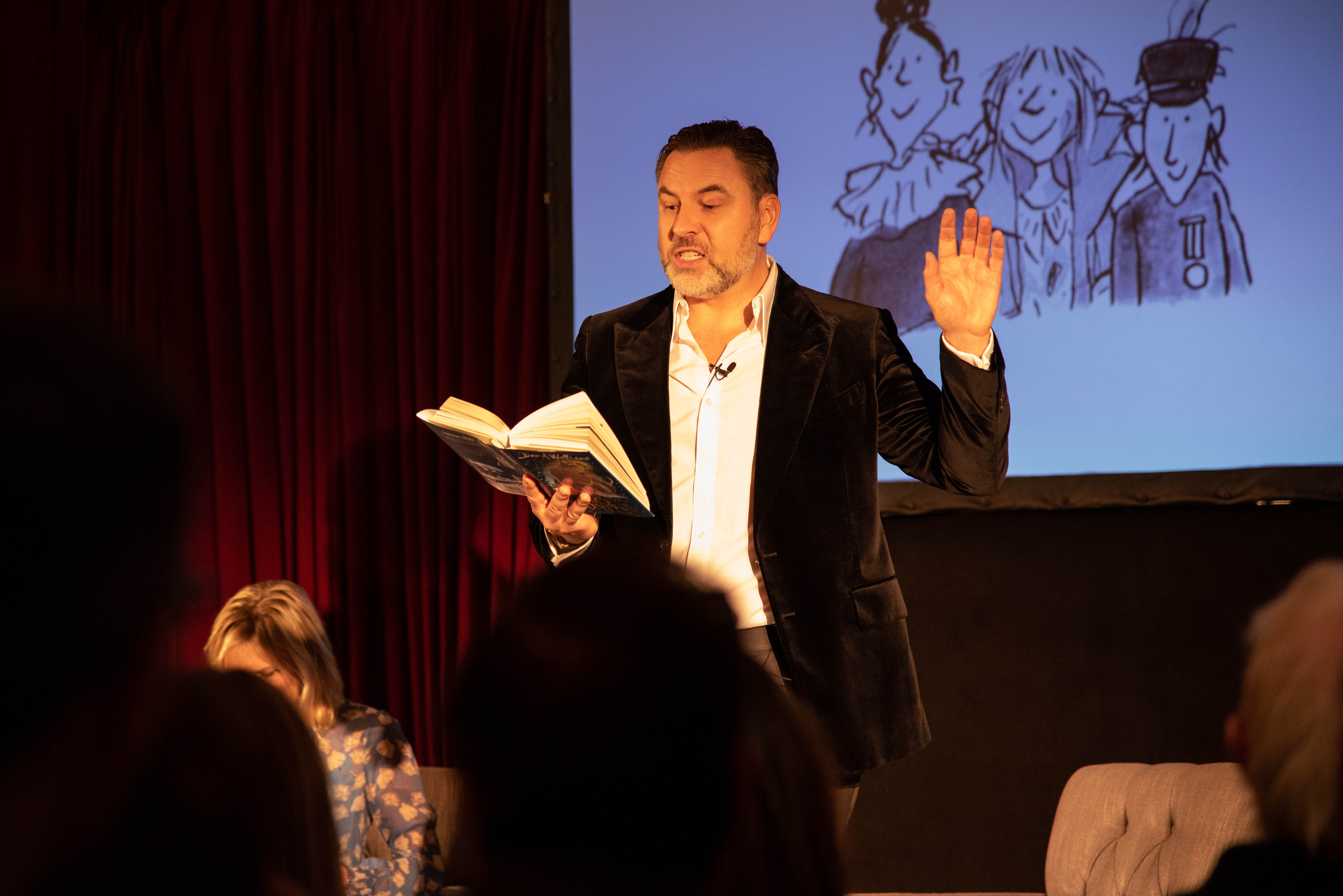 David Walliams reading an excerpt from The Ice Monster