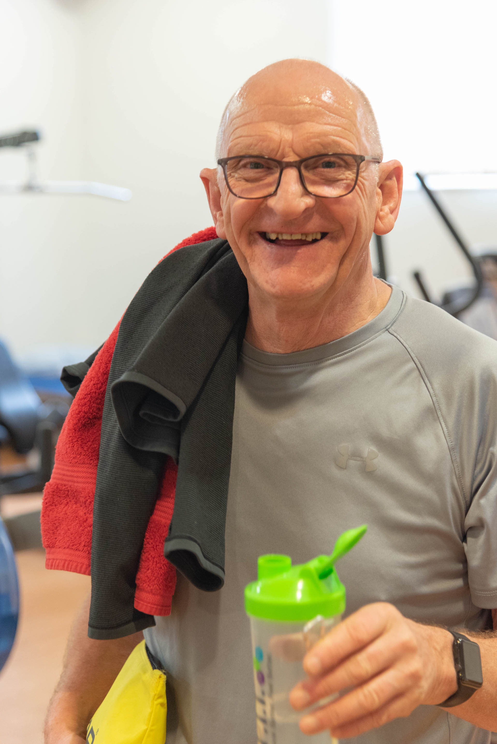Paul Whittick - Chelsea Pensioner in the gym