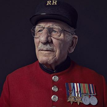 Chelsea Pensioner Frank Mouque
