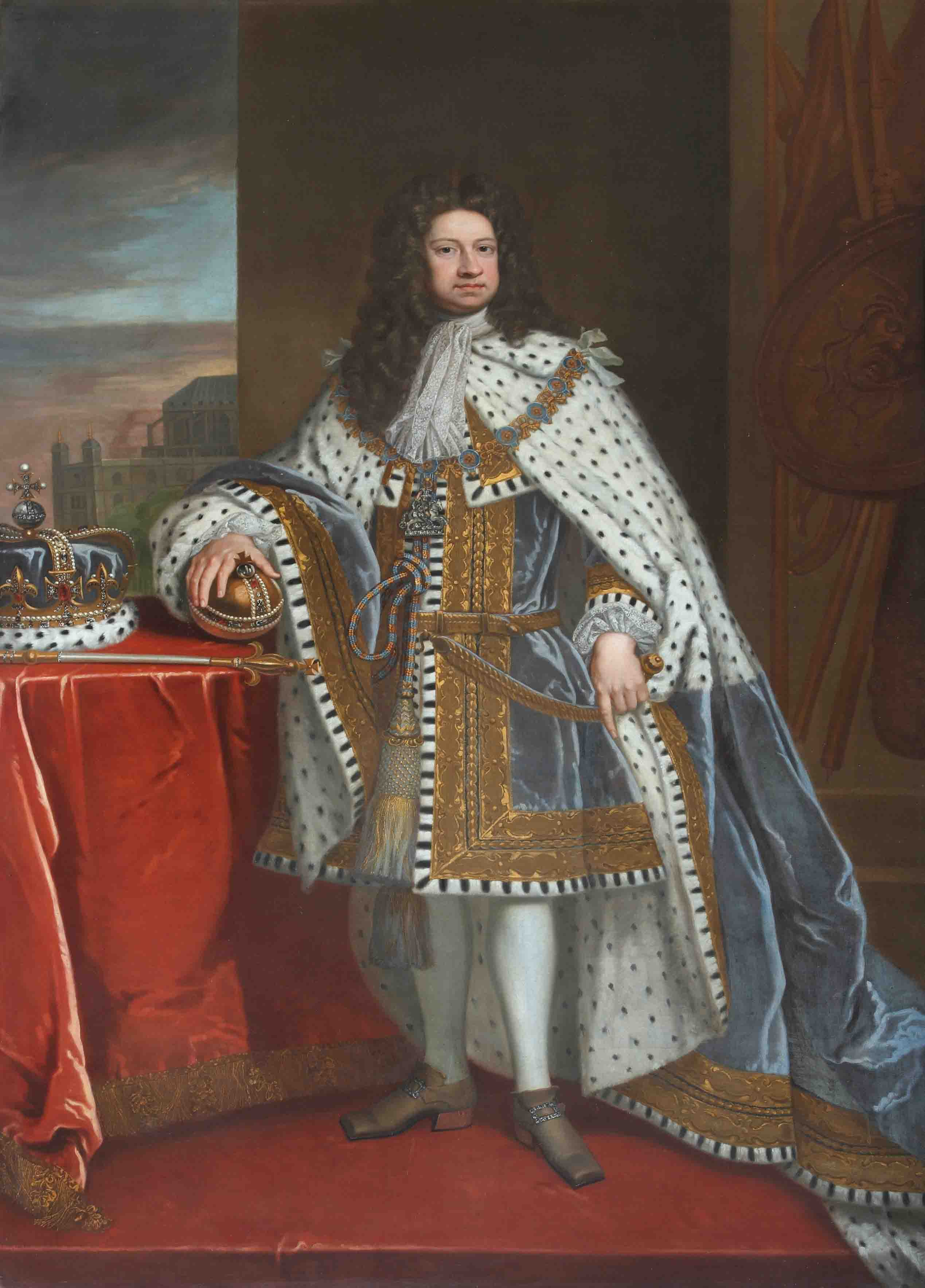 George I (1660–1727) by Godfrey Kneller (1646-1723)