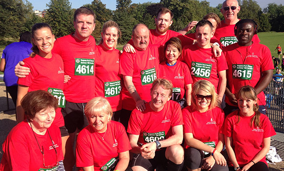 Royal Hospital Staff run a 10k to raise money for the Royal Hospital Chelsea