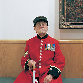 Chelsea Pensioner Harry Laxton
