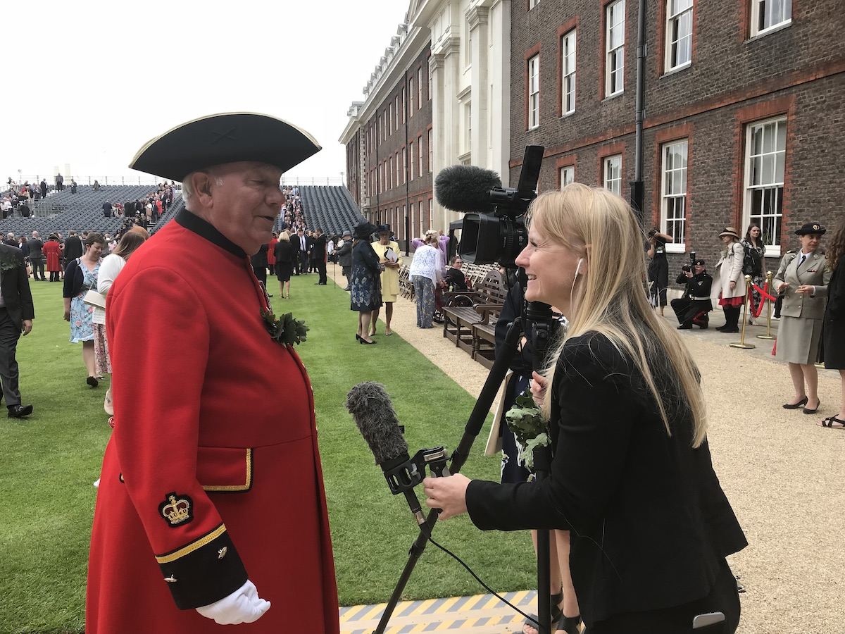 Chelsea Pensioner Leo Tighe at Founder's Day 2018