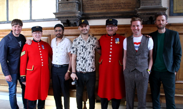 The Chelsea Pensioners meet The Kaiser Chiefs