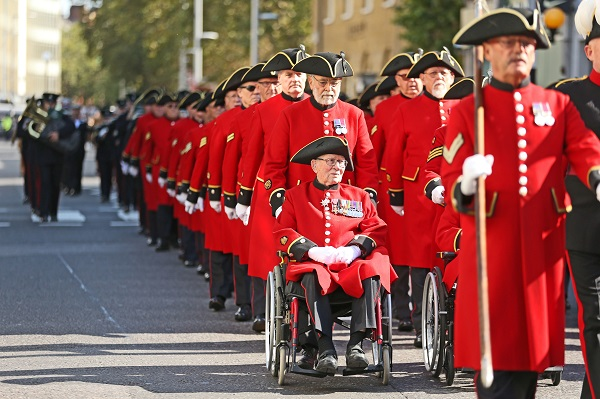 Chelsea Pensioners Parade down the King's Road