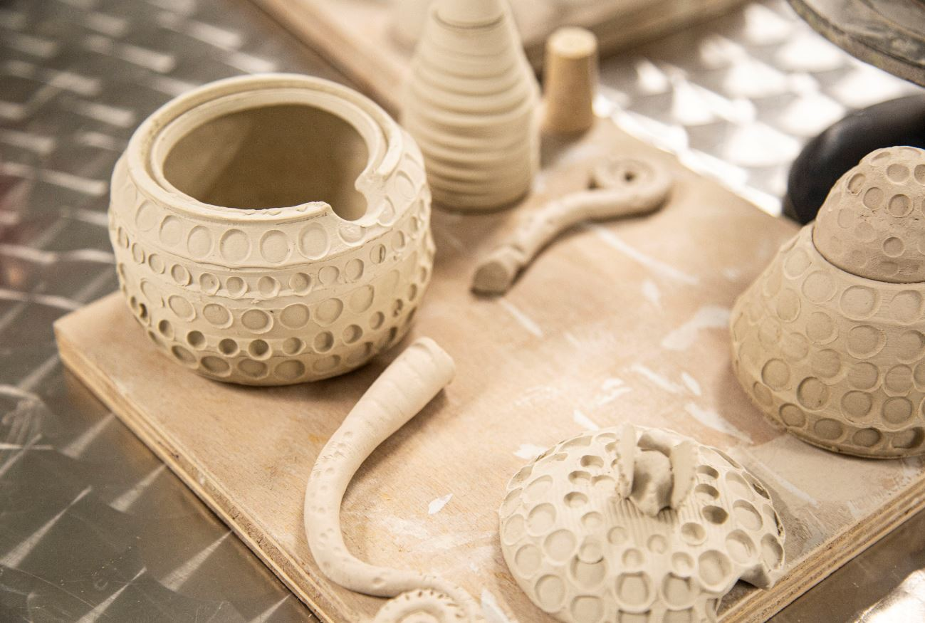Pottery in the Royal Hospital activity room