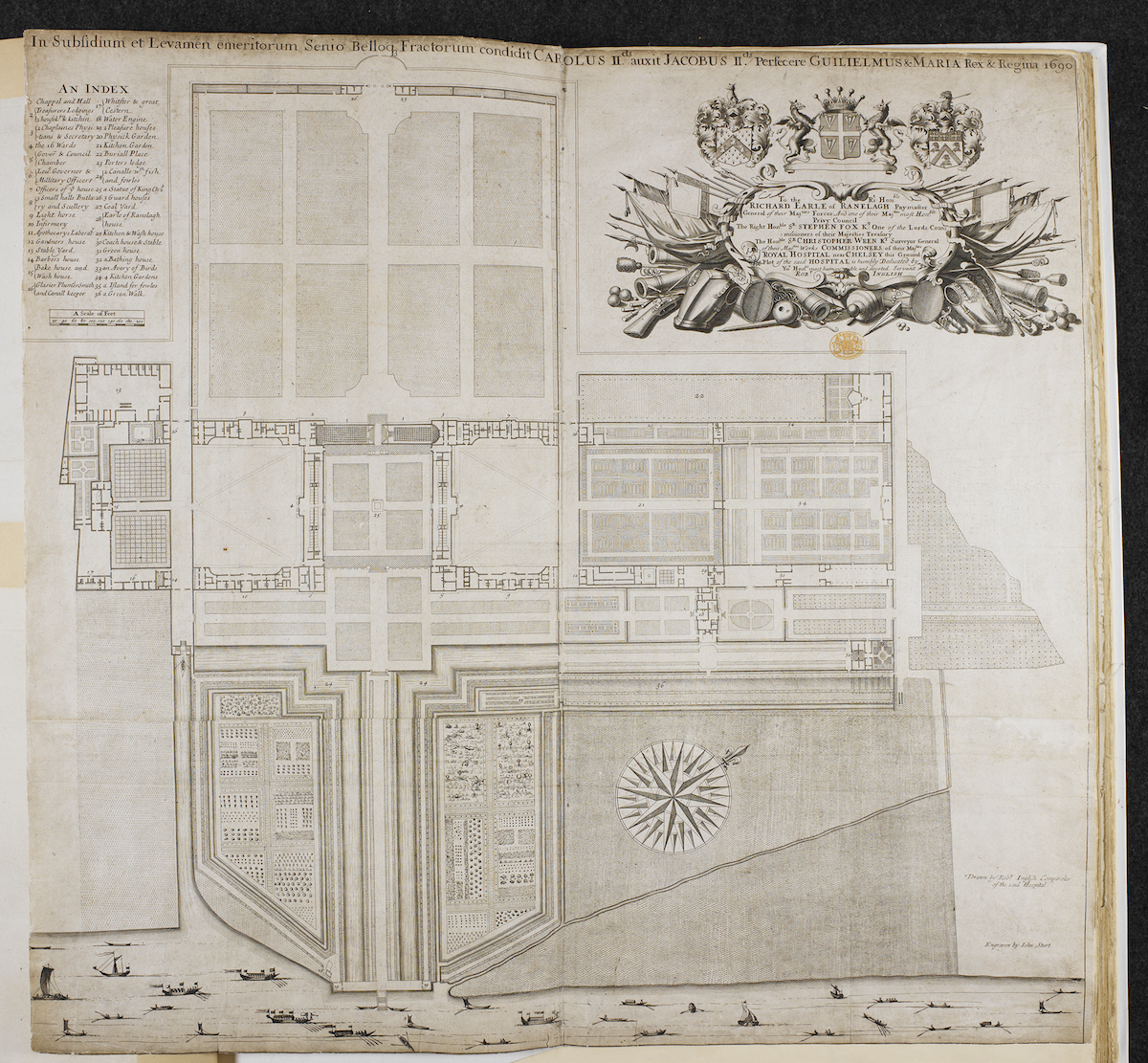 The Ground Plot. Drawing by Robert Inglish. Engraving by John Sturt (1658-1730) © British Library Board. Cartographic Items Maps K.Top.28.4.c.