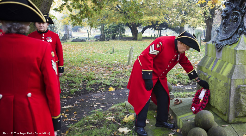 Chelsea Pensioners in the spirit of Remembrance