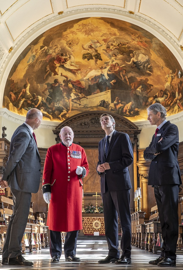 Defence Secretary Gavin Williamson visits the Chelsea Pensioners