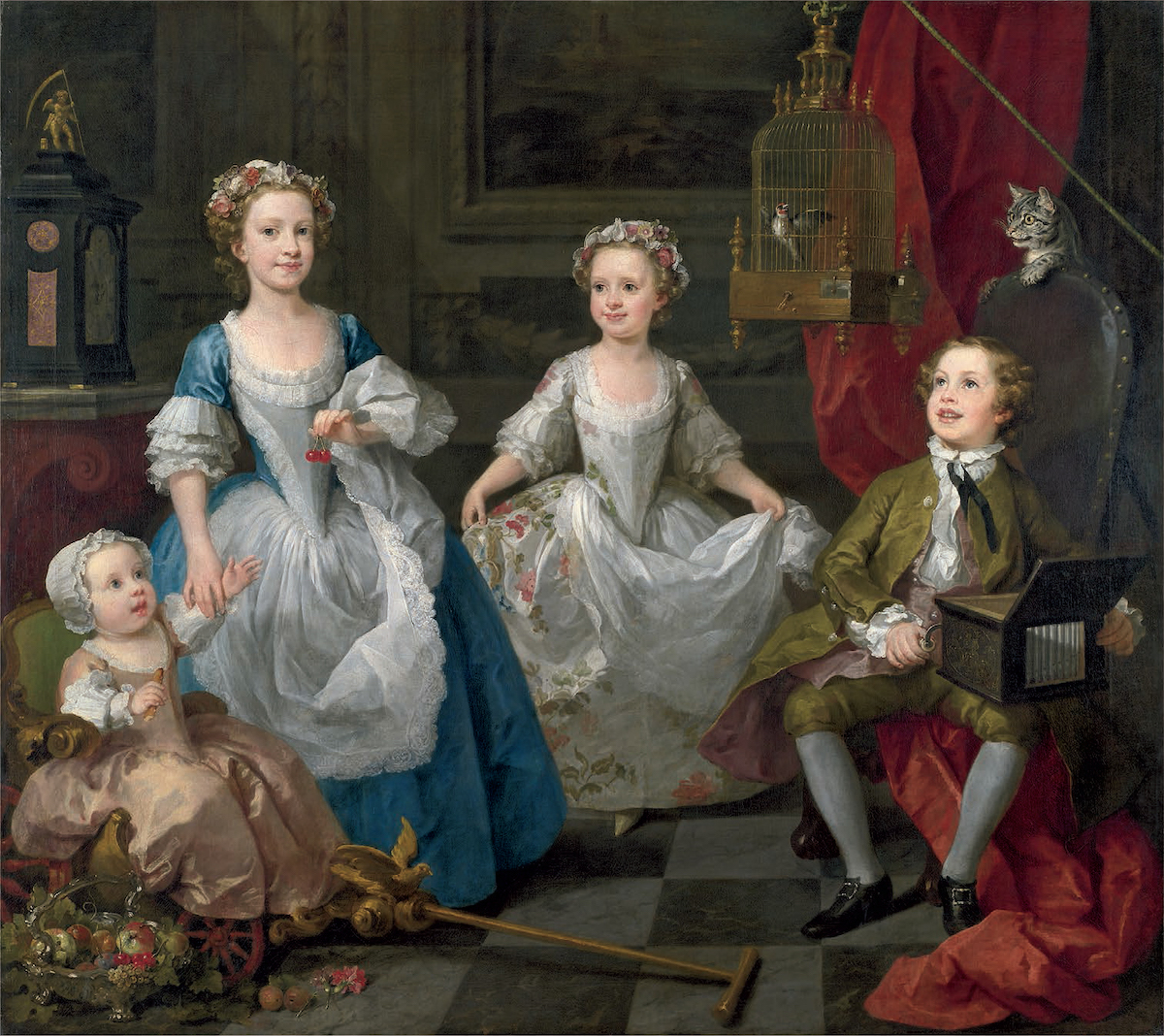 The Graham Children by William Hogarth (1742), Wikimedia Commons.