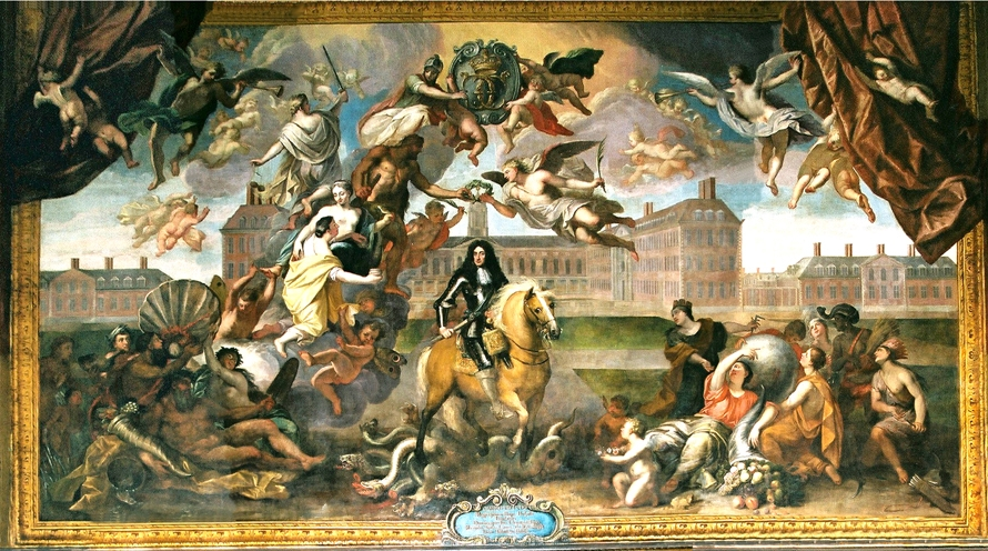 The Great Hall mural by Antonio Verrio © Royal Hospital Chelsea