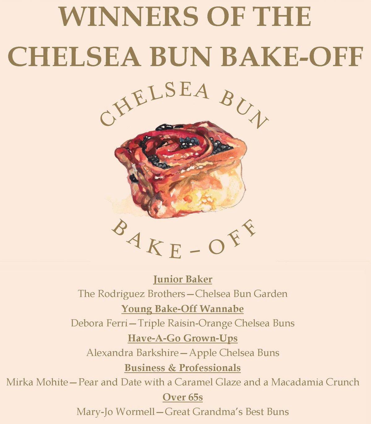 Chelsea Bun Bake-Off Winners