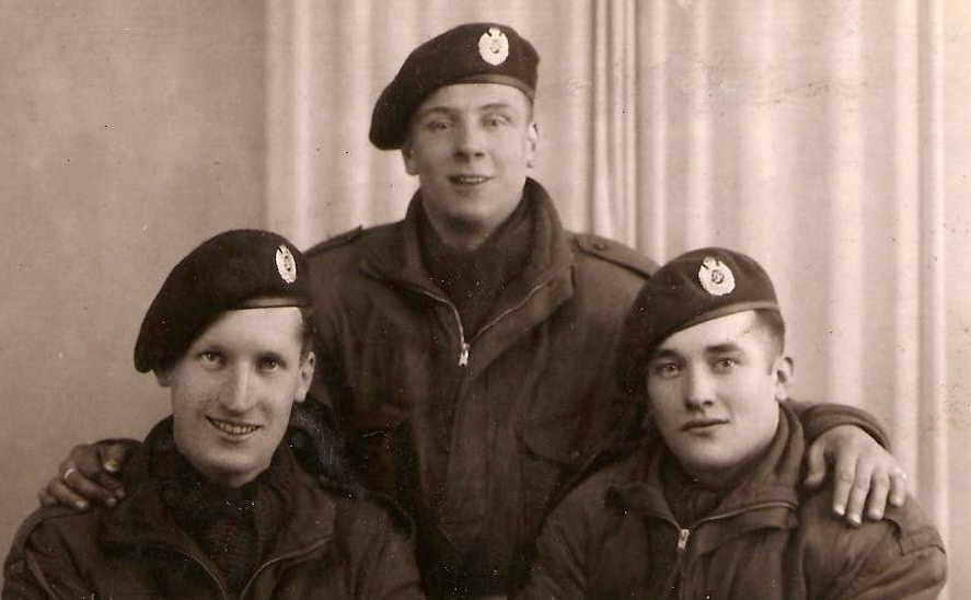 Left to right; Lance Corporal Bob Sullivan and Sappers Dixon and Turrell. Dixon was killed in Normandy, aged 24, when a German plane crashed on the house he was in. Bob was only able to identify him by a bandage on his hand.