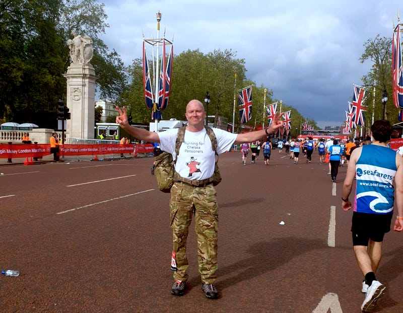 Dean Guidera completes the London Marathon