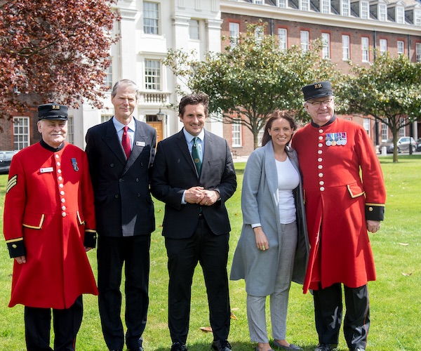 Johnny Mercer MP Visits Royal Hospital Chelsea