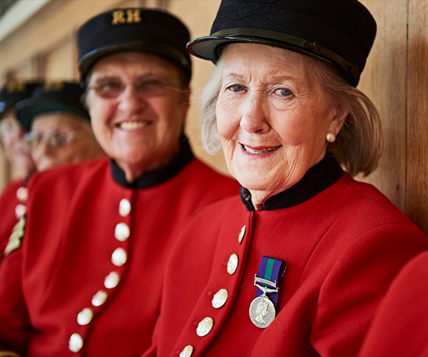 Lady Chelsea Pensioners