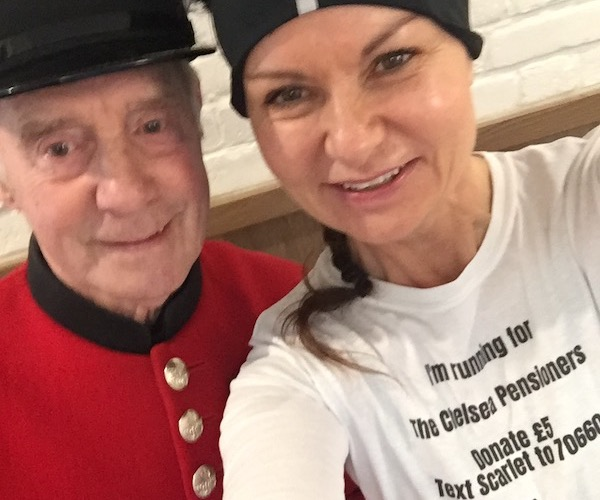 Rachel with Chelsea Pensioner Tony
