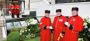 Chelsea Pensioners enjoying Afternoon Tea at London Square