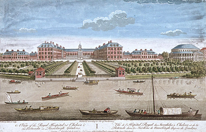 Royal Hospital Chelsea from the Thames
