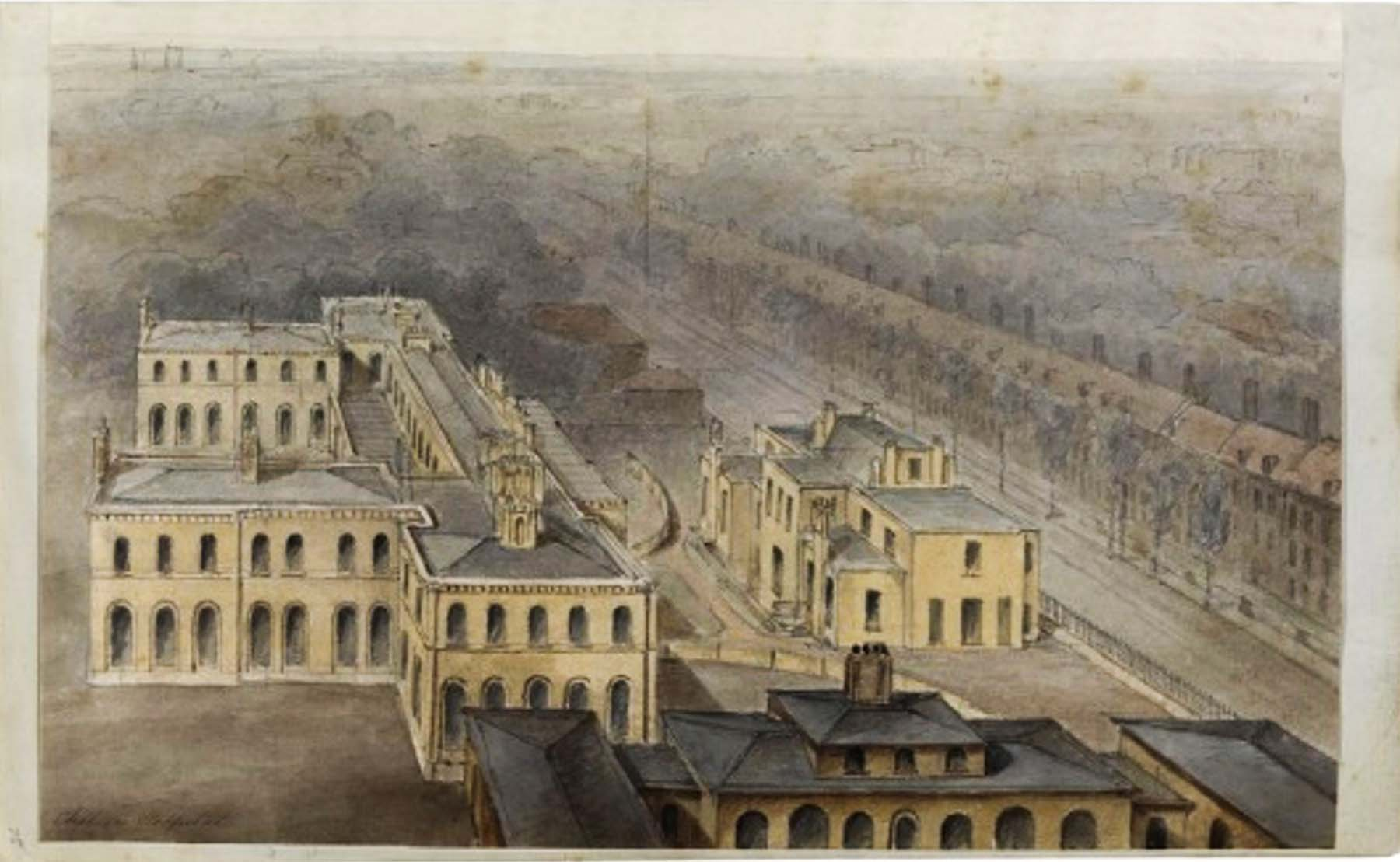 The Infirmary dominated the Royal Hospital Road