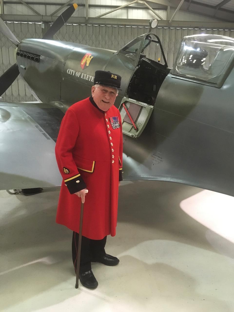 Jim alongside the TR9 Spitfire
