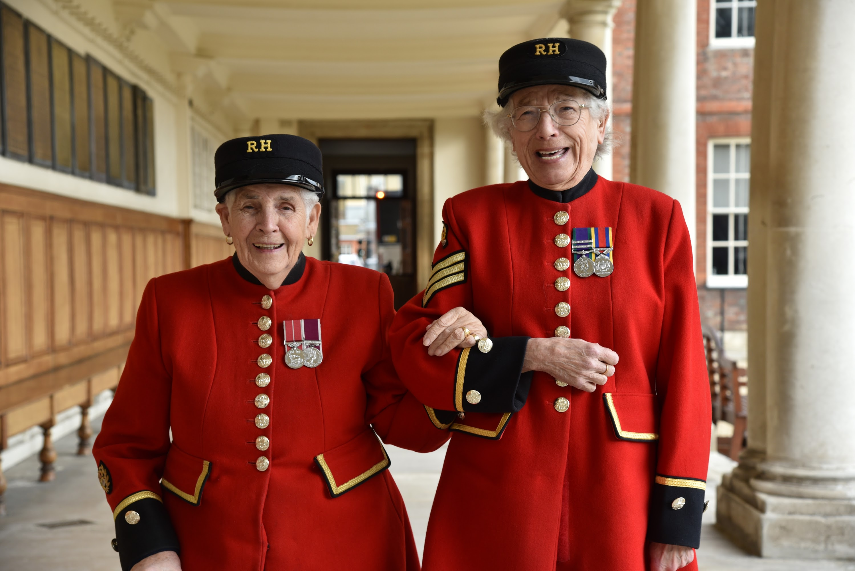 Chelsea Pensioners Marjorie & Audrey