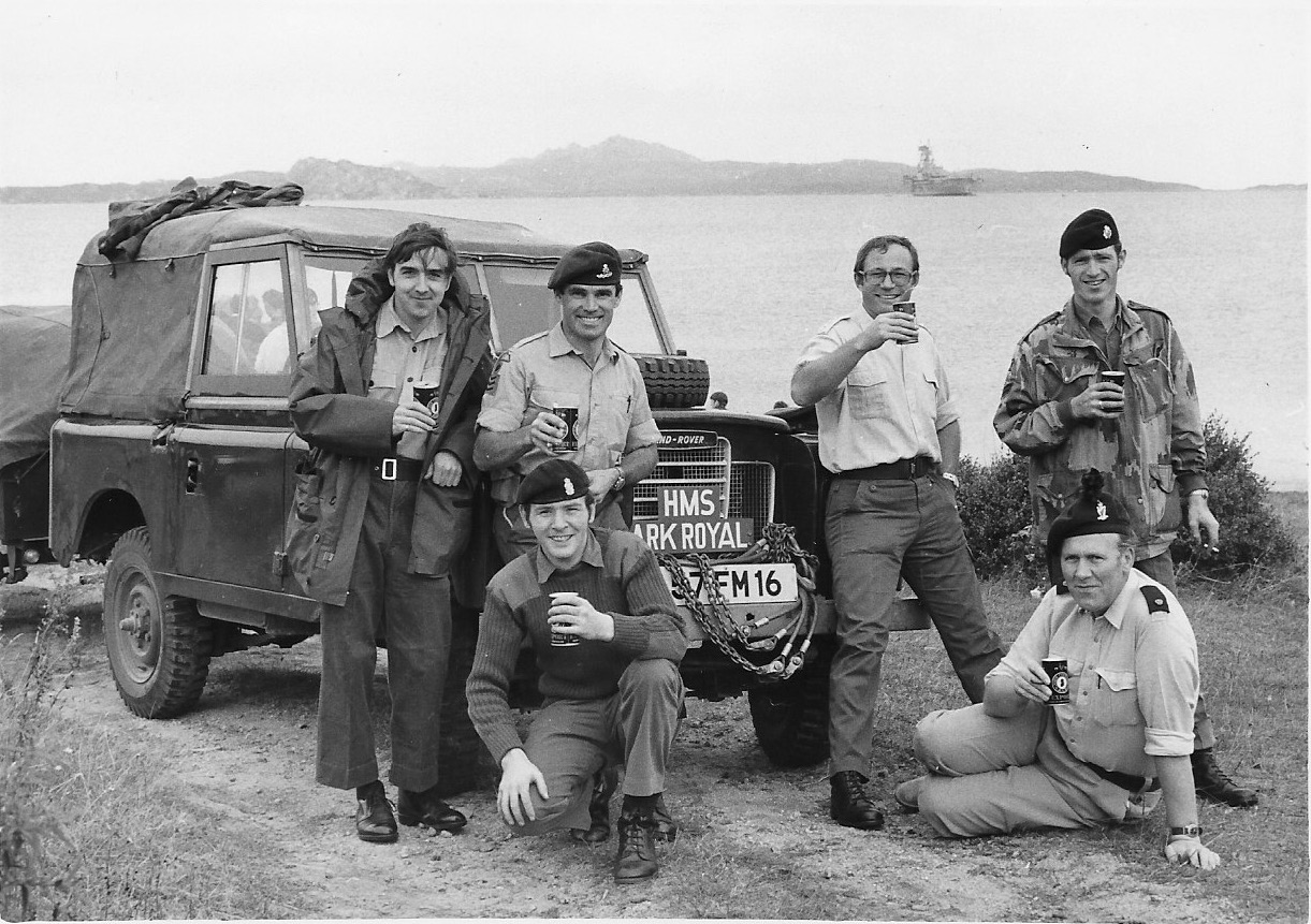 Pat and his team from the Ark Royal in Sardinia