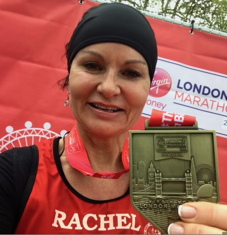 Rachel Webster completes the London Marathon