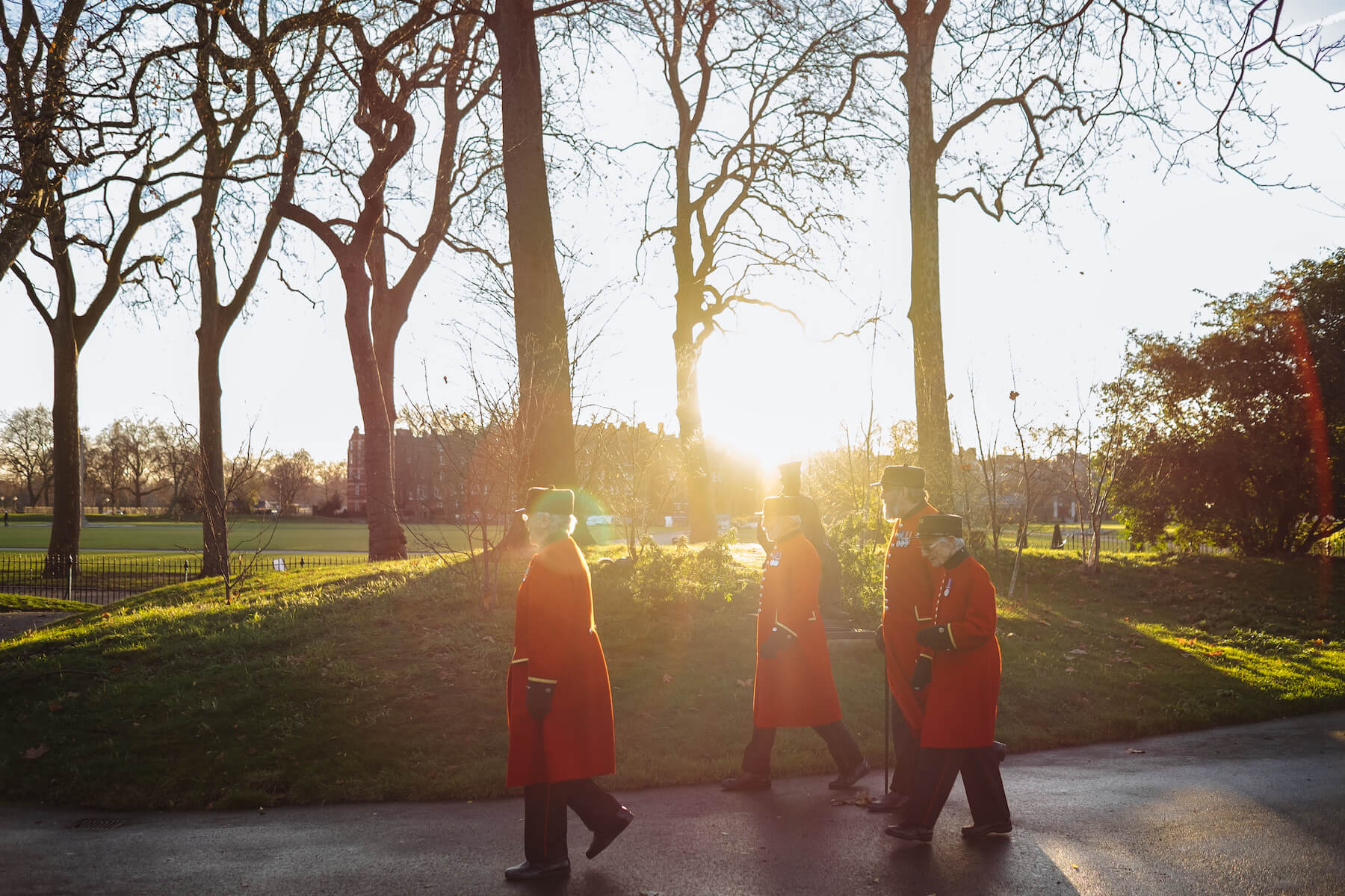 Chelsea Pensioners in Ranelagh Gardens