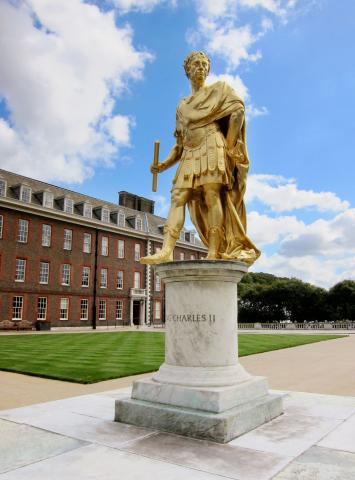 Statue of King Charles II by Grinling Gibbons at the Royal Hospital Chelsea