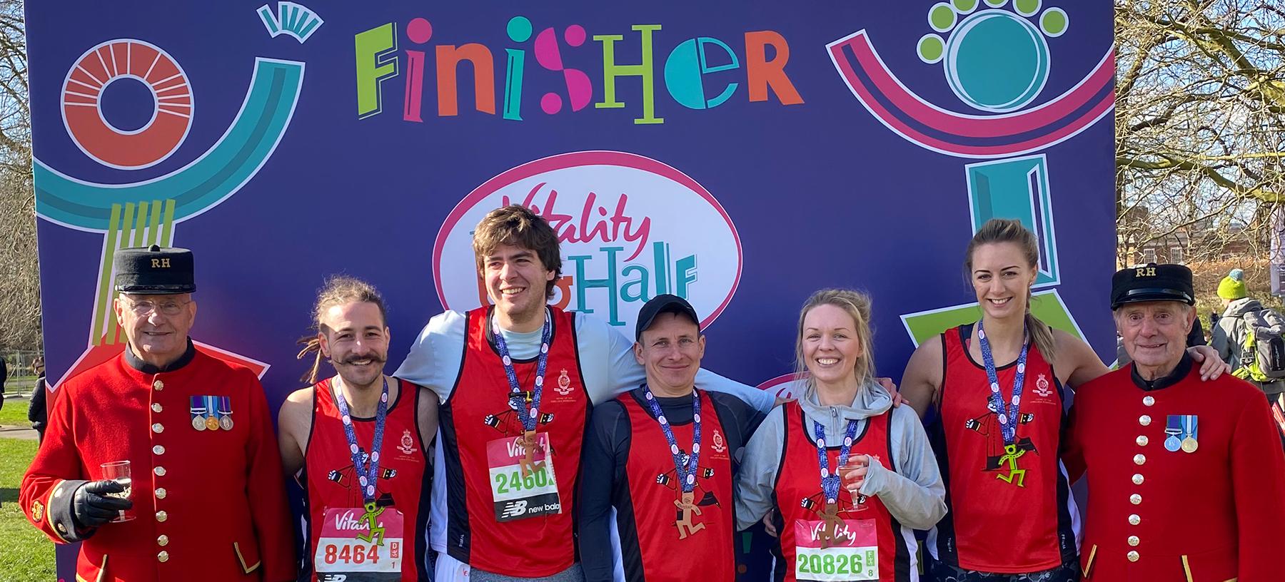 Royal Hospital Chelsea Big Half Marathon Finishers